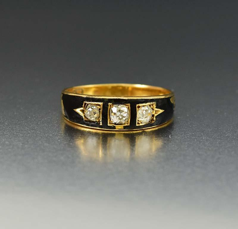 products modern diamond and stone band gold colored mood