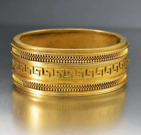 Gold Filled Monogram Engraved Victorian Bracelet