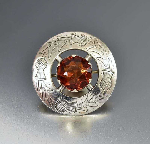 Antique French Rose Gold Citrine Victorian Ring