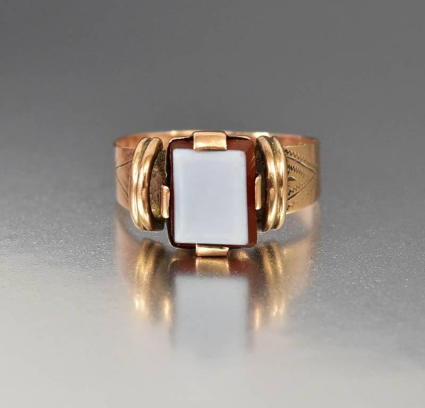 Popular Antique Victorian Red Sardonyx Rose Gold Ring Signet Style – Boylerpf GM97