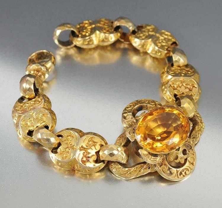 for bracelet wealth store faceted super natural citrine