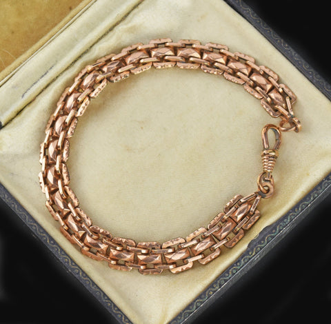 Edwardian Fancy Link Chain Bracelet
