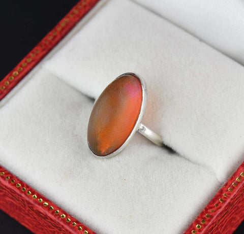 Vintage 10 CTW Smoky Quartz Gold Ring 1970s