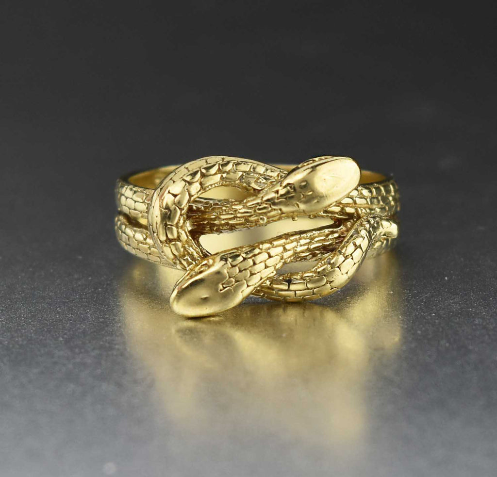 English Gold Double Snake Vintage Ring - ON HOLD - Boylerpf