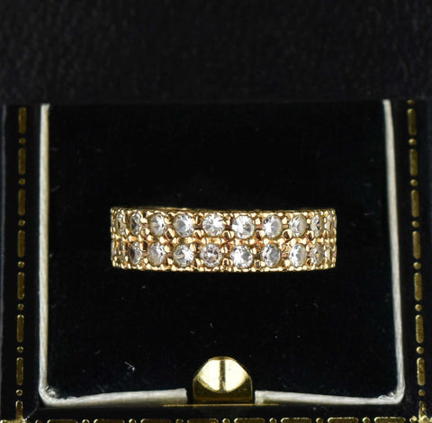 Vintage Double Eternity Band Spinel Ring
