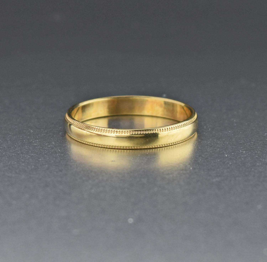 Vintage 10K Gold Wedding Band Ring 1920s Antique - Boylerpf