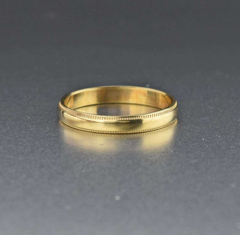Vintage 10K Gold Wedding Band Ring 1920s Antique
