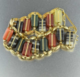 Antique Scottish Banded Agate Bracelet 1800s - Boylerpf