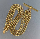 14K Rolled Gold Antique Watch Chain Necklace 1800s - Boylerpf