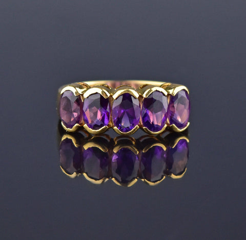 Art Deco Sapphire Diamond 14K Gold Ring