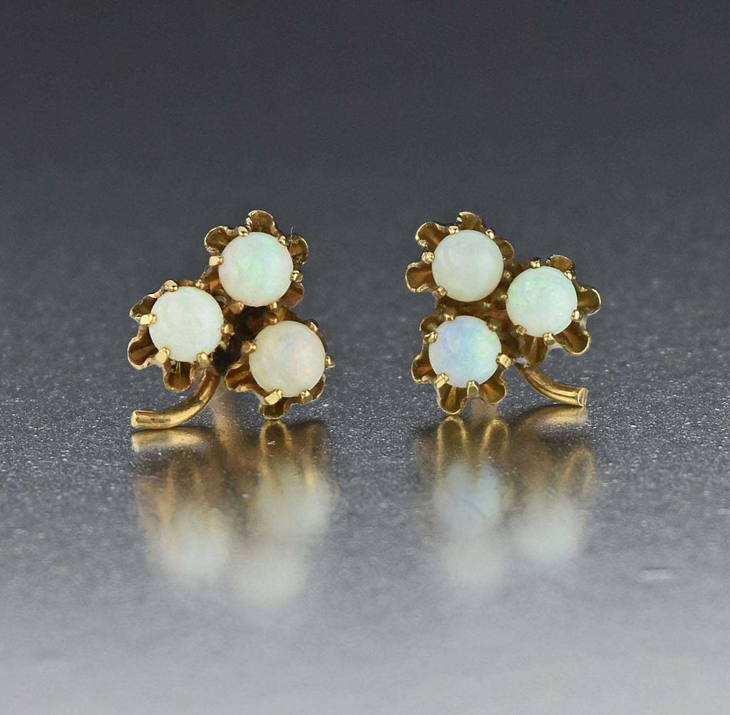 Vintage Opal Stud Earrings - Boylerpf