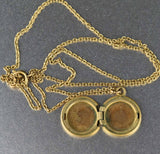 1930s Vintage Petite Forget Me Not Flower Locket - Boylerpf