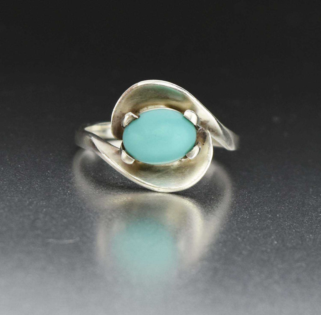 Sterling Silver Vintage Turquoise Ring - Boylerpf