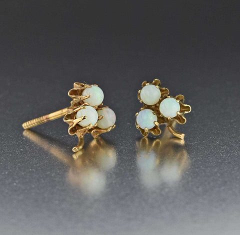 Vintage Opal Stud Earrings