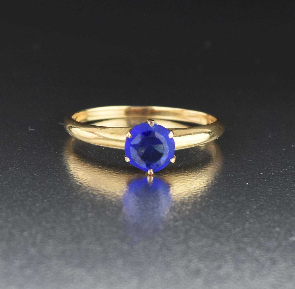 Antique Blue Tanzanite Engagement Ring - Boylerpf