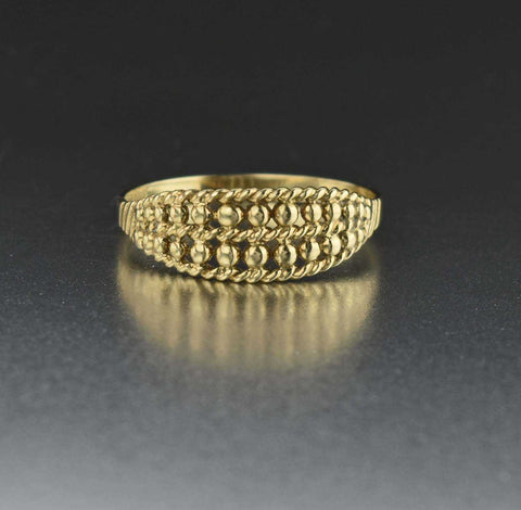 Gold Keeper RIng, Vintage English Wedding Band Ring