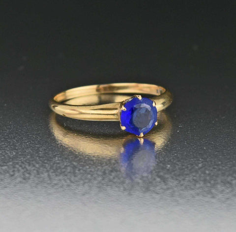 Antique Blue Tanzanite Engagement Ring
