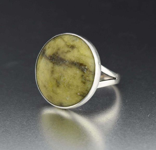 12597ba5e97c1 Vintage Sterling Silver Connemara Marble Ring 1960s