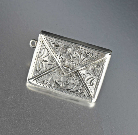 Silver Horse Shoe Compass Locket Pendant, 1890s