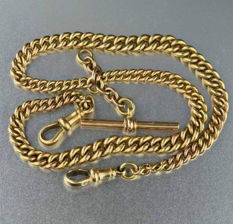 14K Rolled Gold  Antique Watch Chain Necklace ON HOLD