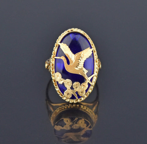 Contemporary 14K Gold Freeform Fire Agate Ring