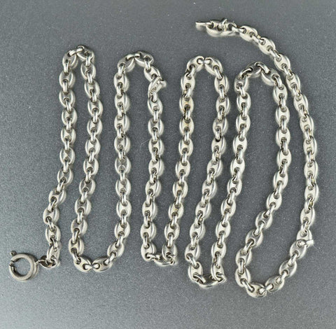 Vintage Victorian Silver Anchor Chain Necklace
