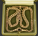 14K Rolled Gold  Antique Watch Chain Necklace ON HOLD - Boylerpf