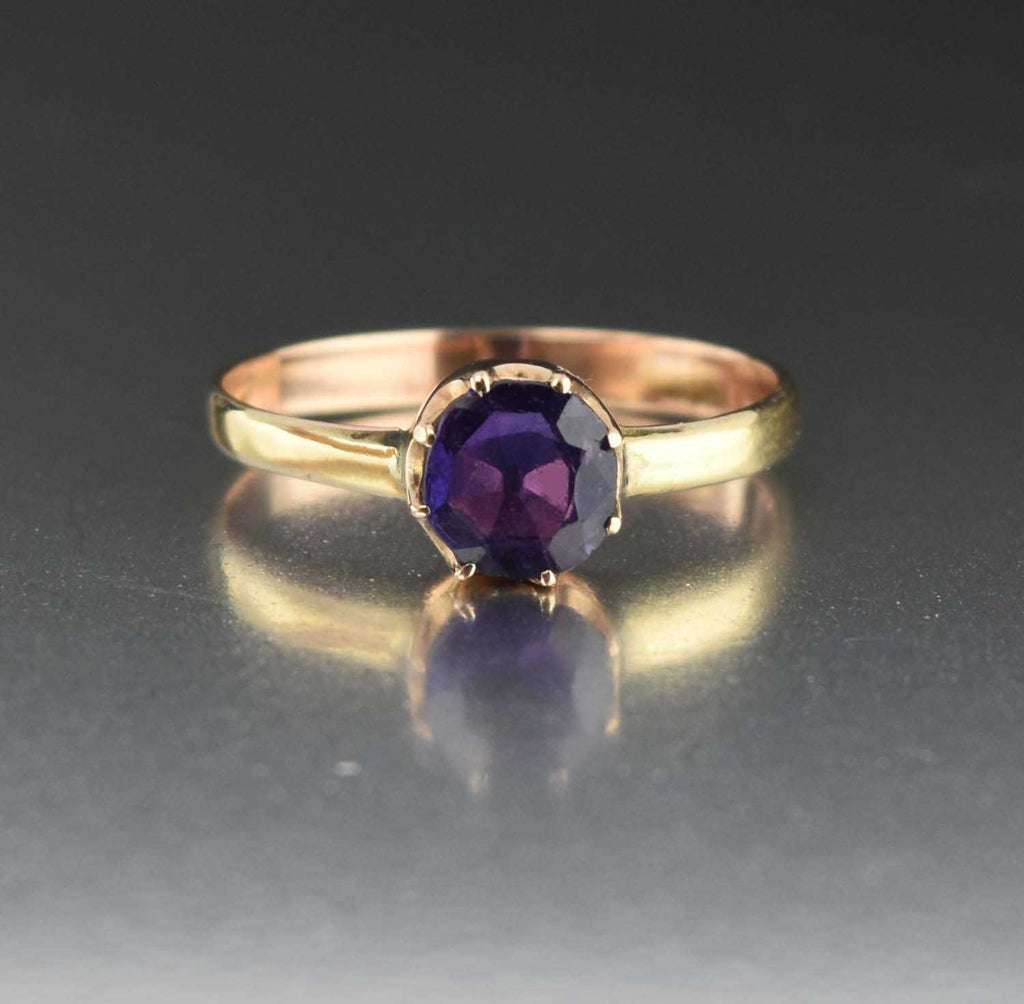 Antique Color Change Sapphire Ring 1900s - Boylerpf