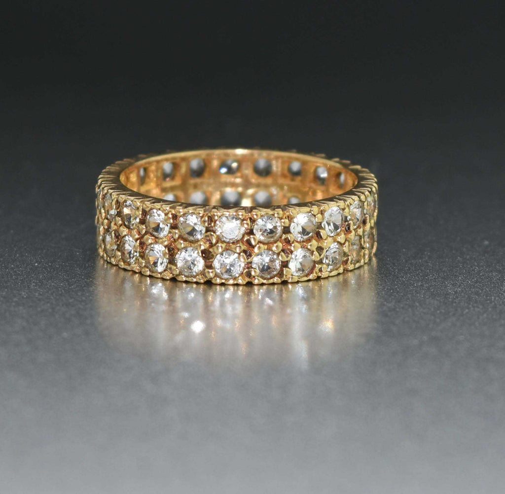 Vintage Double Eternity Band Spinel Ring - Boylerpf