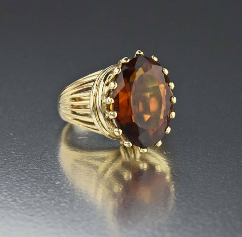 Diamond Onyx Vintage 10K yellow Gold Ring Art Deco Style