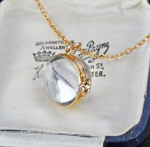 Antique Rock Crystal Pools of Light Locket