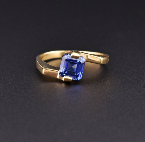 14K Gold Rose Cut Diamond Engagement Ring, Georgian Style
