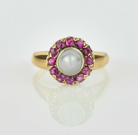 Vintage Gold Rose de France Amethyst Ring