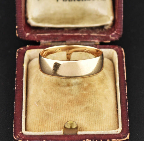 Vintage 14K Gold Wedding Band Ring 1920s