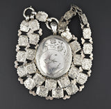 Aesthetic Victorian Silver Book Chain Locket Necklace - Boylerpf