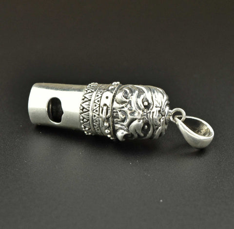 Silver Bulldog Whistle Charm Necklace