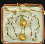 Victorian Gold Earring Coach Covers Necklace
