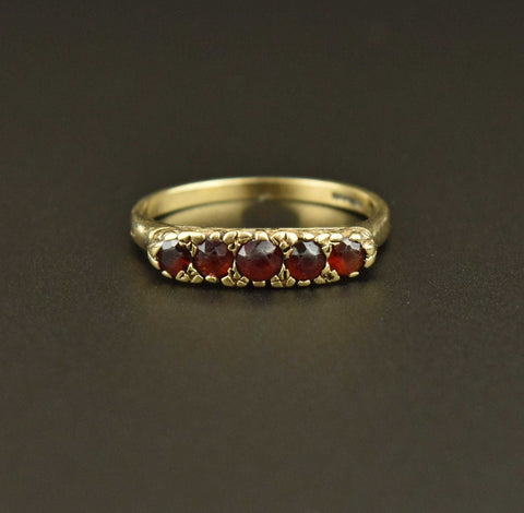 Victorian 18K Gold Diamond Sapphire Wedding Engagement Ring