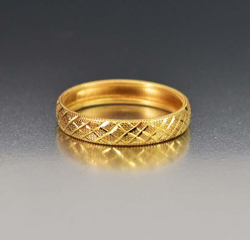 wedding new zoom real yellow size gold ring diamond band bands mens wide