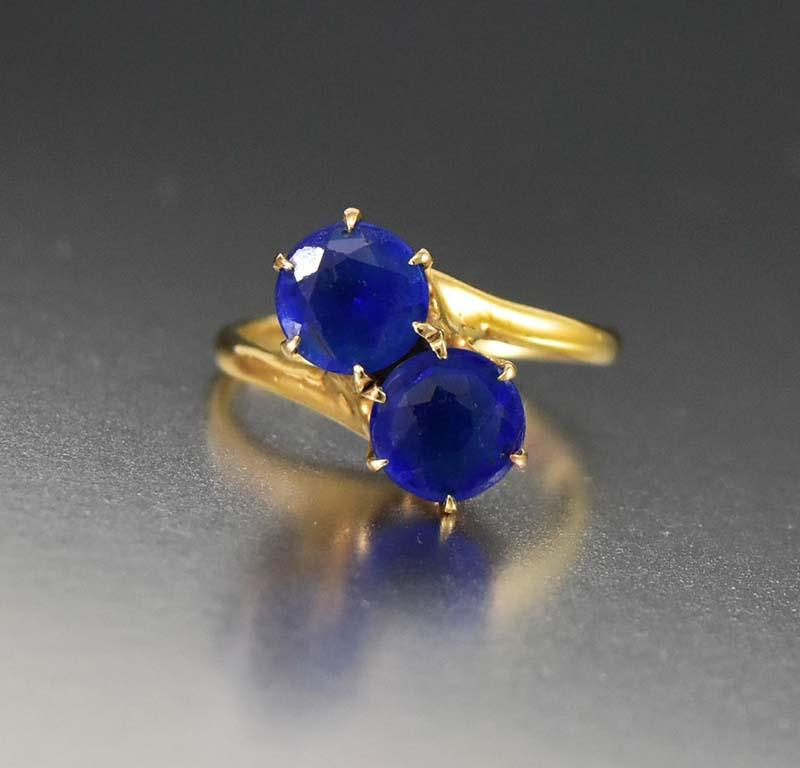 Antique Edwardian 14K Gold Sapphire Engagement Ring - Boylerpf