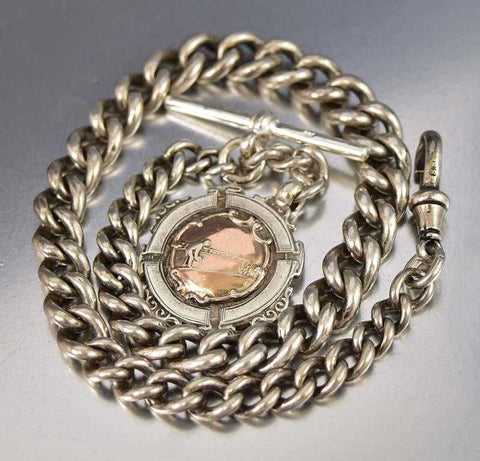 Fine Edwardian 12K Gold Fill Topaz Glass Antique Bracelet