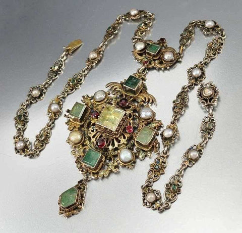 Victorian Emerald Austro Hungarian Necklace
