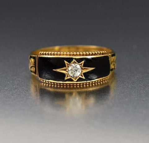 Vintage English Gold REGARDS Acrostic Ring