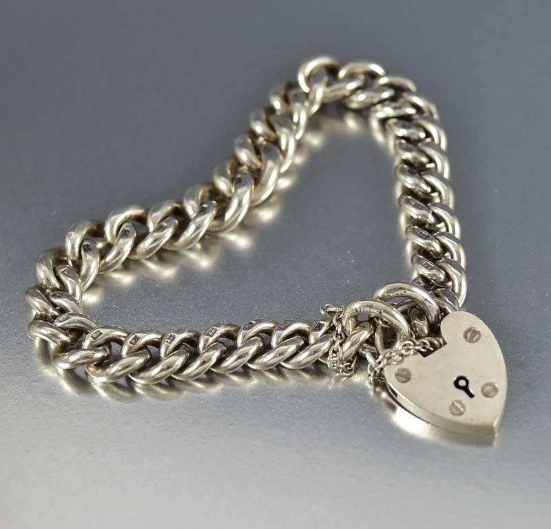 Albert Watch Chain Bracelet w Heart Padlock - Boylerpf