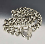 Antique Albert Watch Chain Heart Padlock Bracelet - Boylerpf