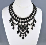 French Jet Victorian Necklace Mourning Jewelry - Boylerpf