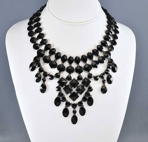 French Jet Victorian Necklace Mourning Jewelry