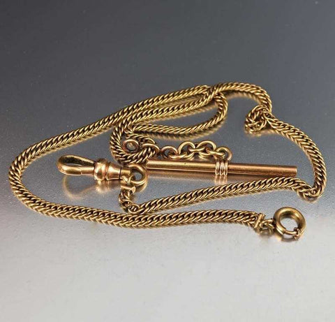 Antique 12K Gold Filled Watch Chain Necklace
