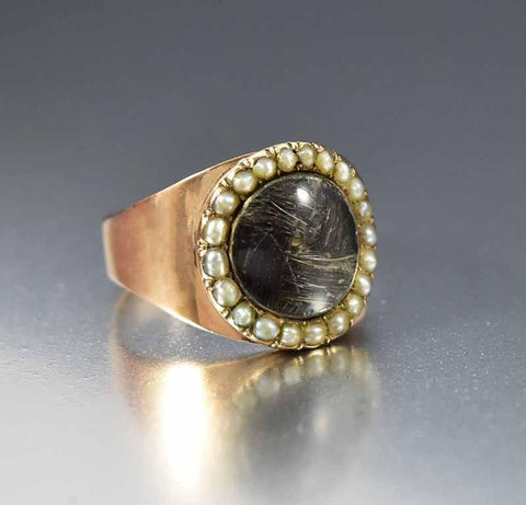Antique Georgian Rose Gold Memorial Ring 1798