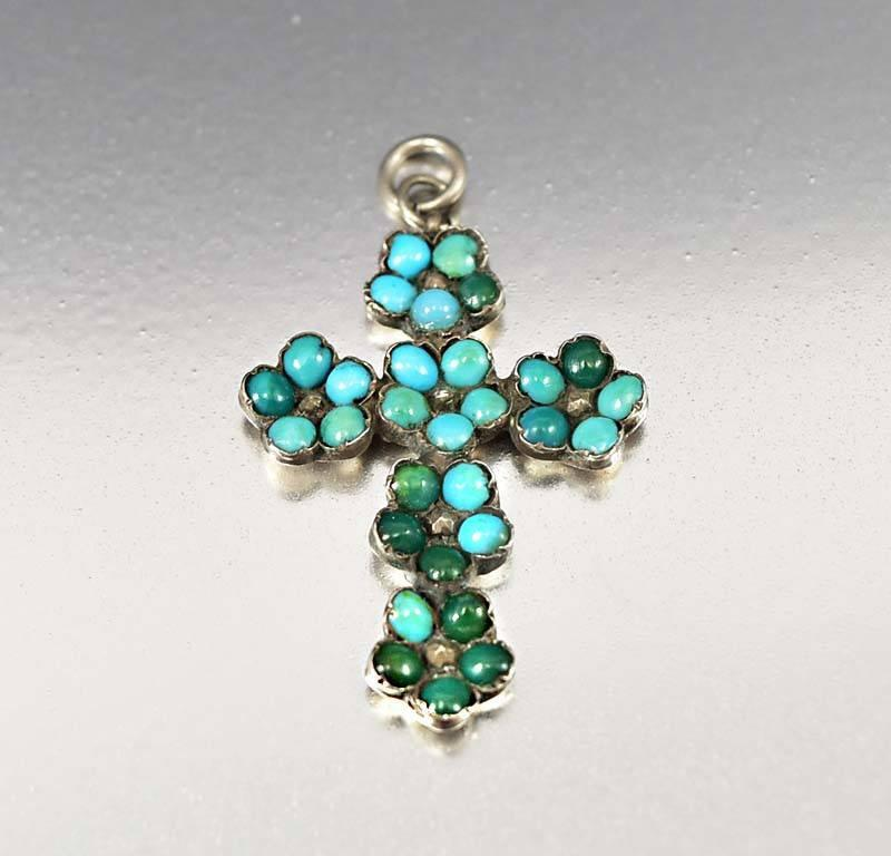 Antique georgian persian turquoise cross pendant charm boylerpf antique georgian persian turquoise cross pendant charm aloadofball